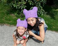 Crochet Mother and Child Cat Hat